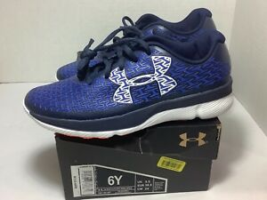 Under Armour clutchift Rebel Speed size 6Y colorBlue and White model 1281104-907