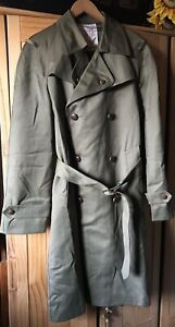Induyco Italian Vintage Army Green Coat  Military Style   45% Wool Size L / 46