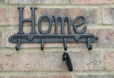 Home Cast Iron Wall 4 Hook Coat Rack Metal Shabby Chic 30x15 cm Strong Hall New
