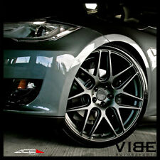 "20"" ACE MESH-7 GREY CONCAVE WHEELS RIMS FITS NISSAN 350Z 370Z"