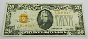 1928 $20 Gold Certificate U.S. NR