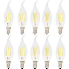10er 4W Dimmbar E14 LED Kerzenlampe Windstoß Filament Glühfaden Fadenlampe Lampe