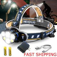 Super Bright 100000LM XM-L T6 LED Headlamp Headlight Flashlight Head Torch 18650