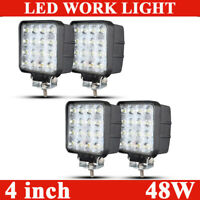 4X 48W 4in LED Work Light Flood Bar Offroad Fog Pods Truck ATV 4WD Driving Lamp