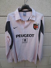 VINTAGE Maillot rugby STADE TOULOUSAIN Nike rose shirt M coton