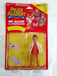 "POLICE ACADEMY  ""MR. SLEAZE with  FOOFOO DOG""  KENNER 1988  - MINT ON CARD"