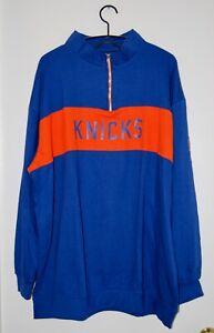 NWT Majestic Men's Big & Tall Blue & Orange NBA NY Knicks Pullover Sweatshirt 3X