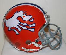 1966 Denver Broncos Custom Throwback Riddell Mini Helmet w/ Metal Facemask