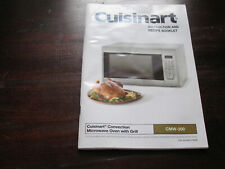 Cuisinart Convection Microwave Oven w Grill Instruction & Recipe Booklet CMV-200