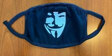 Guy Fawkes, V for Vendetta Face Mask, GLOW IN THE DARK , reusable , Cotton