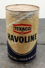 Vintage Sealed Texaco Canada Havoline Engine/Motor Oil Can 1 Imperial Quart #1