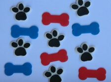 24 edible DOG BONE & PAW PRINT CUPCAKE cake topper DECORATION PAW PATROL puppy
