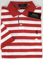 Polo Ralph Lauren Red Striped Short Sleeve Shirt Classic Fit NWT NEW $79