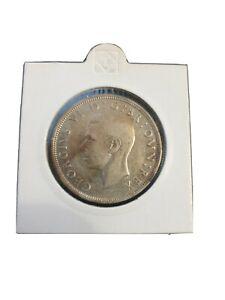 1939 Great Britain George VI - Half Crown ,KM# 856 , 0.500 Silver coin ,14g