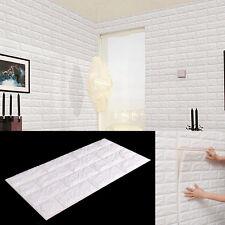 3D 60*60CM Blanc Brique étanche blanc Autocollant Mural Panneaux Papier Mousse