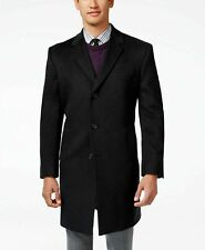 KENNETH COLE REACTION MENS OVERCOAT CHARCOAL RABURN WOOL BLEND SIZE 40R