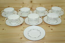"""Royal Doulton Coronet (7) Cups, 2 1/8"""" & (8) Saucers, 6 1/8"""""""