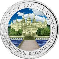 2 Euro Gedenkmünze BRD / Deutschland 2007 Schwerin coloriert Farbe / Farbmünze