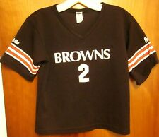 CLEVELAND BROWNS Tim Couch youth med jersey Reggie Hodges beat-up #2 Franklin
