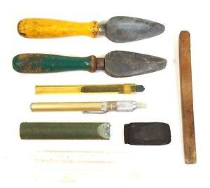 LOT Junk Drawer Knife Sharpening Honing Sharpening * Carborundum * Vintage