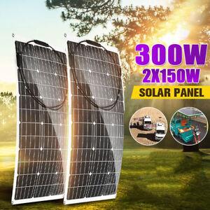 300W/150W 18V Monocrystalline Solar Panel Flexible For Motorhome Boat  R