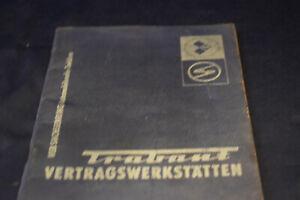 VEB Sachsenring Automobilwerke Zwickau DDR Trabant Trabbi Vertragswerkstätten