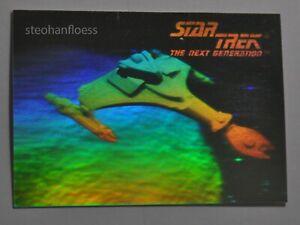 1992 Impel Star Star Trek TNG Hologram 02H Klingon Starship Yor'cha Cruiser