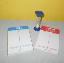 MB Celebrity Taboo & Taboo Replacement Game Parts Timer Blue w/ Score Pads
