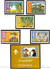 FUJEIRA BOY & GIRL SCOUTS MICHEL #679-83 & 707-11 + BL 62 STAMP SOUVENIR SHEETS