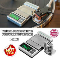 Precision Digital Stylus Needle Pressure Gauge Scale for Turntable Record Player