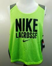 NWT NOS NIKE SPELLOUT Mens L/XL NEON GREEN Reversible MESH LACROSSE Jersey NEW!