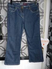South Womans Blue Boot Cut Jeans Size 18 Regular Leg