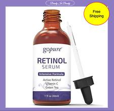 goPure Retinol Facial Serum - Active Retinol with Organic Aloe, Green Tea