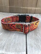 New listing Extra Large Red Paisley Wide Big Dog Collar - 1.5in Wide Collar Size Xl 18-26�