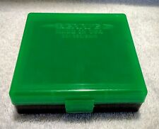BERRYS .380 / 9mm PISTOL HINGED TOP GREEN/BLACK AMMUNITION CASE 100 RD #001 IPSC