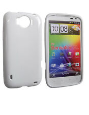 Housse Softy blanche glossy HTC SENSATION XL