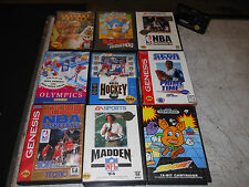 Vintage Sega Genesis 9 Game Sports Lot Cartridges Video Sports