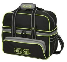 Storm Black/Lime 2 Ball Deluxe Bowling Bag