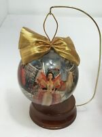 "Holiday Barbie 4"" Decoupage Ornament with woooden ornament stand 1997"