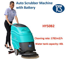 TCS NEW Commercial Battery Powered Auto Floor Scrubber Machine w/ Squeegee Drier