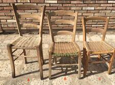 Antiche sedie in legno massello con seduta in paglia rustiche arte povera