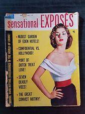 Vintage Sensational Exposes Magazine February 1958  Nudist Garden of Eden Hotels