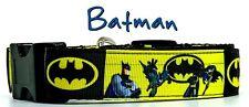 "Batman dog collar handmade adjustable buckle collar 1"" or 5/8"" wide or leash"