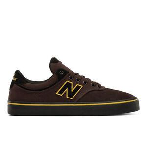 Mens New Balance Numeric 255 Skateboarding Shoes Brown Black Yellow    (BRN)