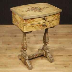 Table Bedside Lacquered Furniture Living Room Italian Wood Antique Style Xx C