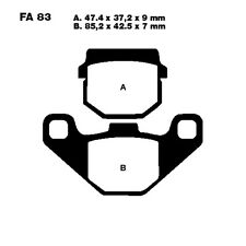 Scooter Brake Pads Sintered HH EBC Sfa083Hh For Hyosung SB 50 Cab 1997