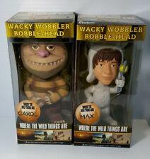 2pcs Where The Wild Things Are Movie pop Carol & Max Wacky Wobbler Funko NEW lot