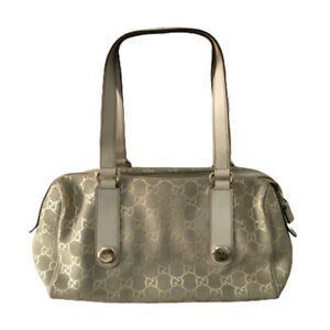 GUCCI Guccissima  beige Suede Charmy Boston Bag