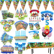 Sonic the Hedgehog Birthday Party Kids Supplies Tableware Decor Plates Balloons