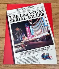 1986 THE LAS VEGAS SERIAL KILLER Orig Camp Video HORROR VHS Promotional Ad Slick